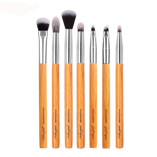 Professional 7 Piece Makeup Brush Set For Eyeshadow Smudging, Blending & Contouring Makeup Tool Kit
