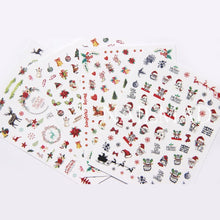 A Selection Of Christmas 3D Nail Art Stickers