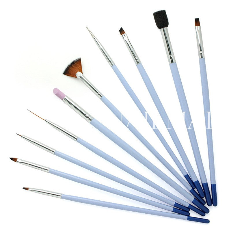 Acrylic Nail Art Selection Brushes Set For Salon Or Personal Use