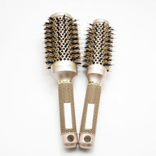 Professional Salon Styling Nano Ionic Boar Bristle Round Barrel Hair Brush 4 Piece Set