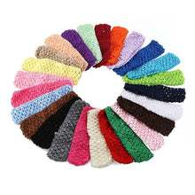 50 Piece Childrens Elasticated Crochet Style Headbands