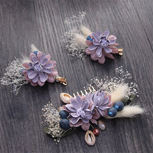 3 Piece Handmade Set Of Forest Style Floral Bridal Hair Fascinator