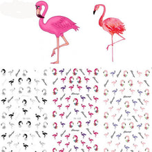 1 Sheet Colourful Flamingo Nail Art Water Decals Transfer Stickers Nail Art Decoration