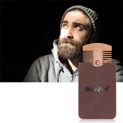 Maquiagem Wooden Anti Static Pocket Size Beard Comb