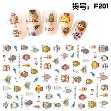 3D Embossed 1 Sheet Garden Flowers Nail Art Sticker Flower Adhesive Nail Art