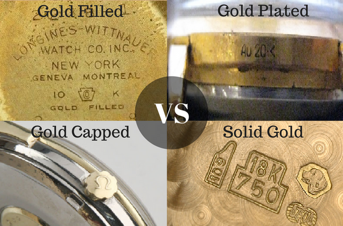Gold Plated, Gold Filled, Gold Cap, Solid Gold Watches | Difference and Which is Best