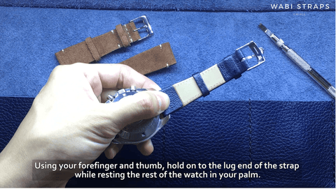 How to hold onto your watch when changing watch strap
