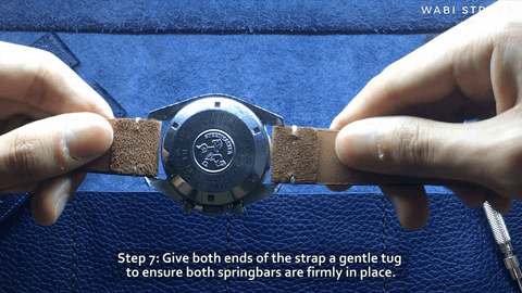 How to ensure watch strap is secure - give it a tug
