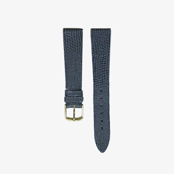 Grey Lizard Calf Leather Watch Band