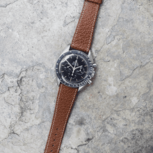 Brown Pebbled Leather Watch Band