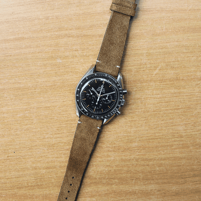 Dirty Grey Suede Watch Strap