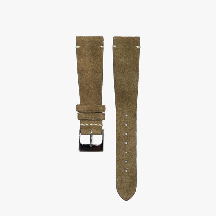 Coffee Brown Suede Watch Strap