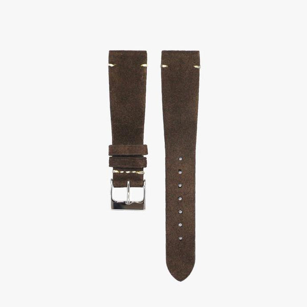 Dark Brown Suede Watch Strap