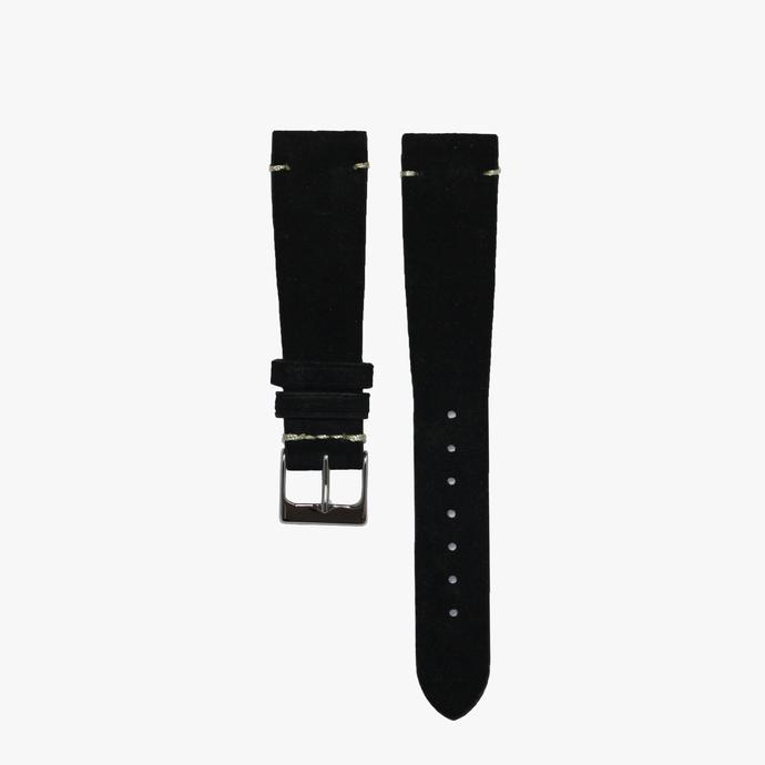 Jet Black Suede Watch Strap