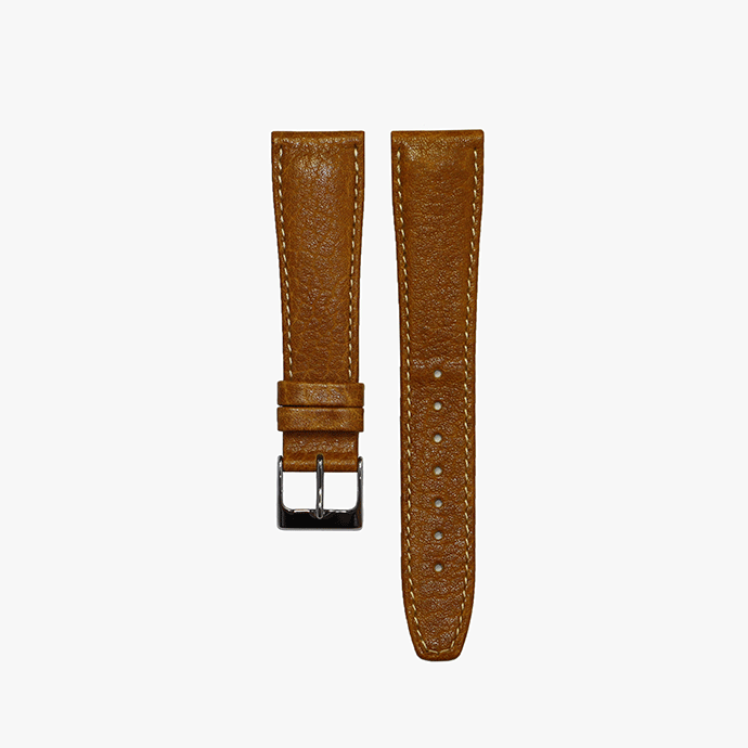 Camel Tan Smooth Leather Watch Band