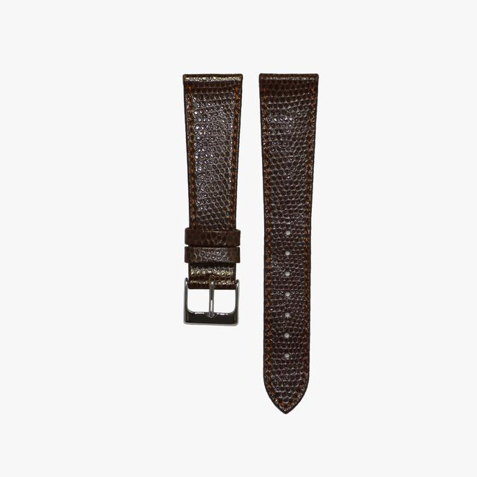 Hickory Brown Lizard Leather Watch Strap