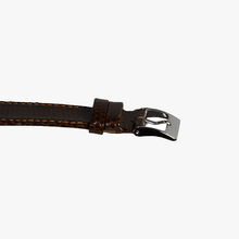 Brown Lizard Grain Leather Watch Band