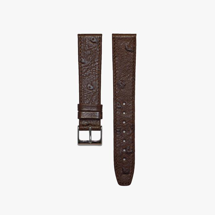 Bronze Brown Ostrich Leather Watch Strap