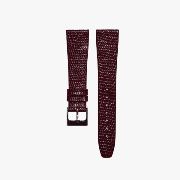 Dark Red Lizard Grain Watch Band