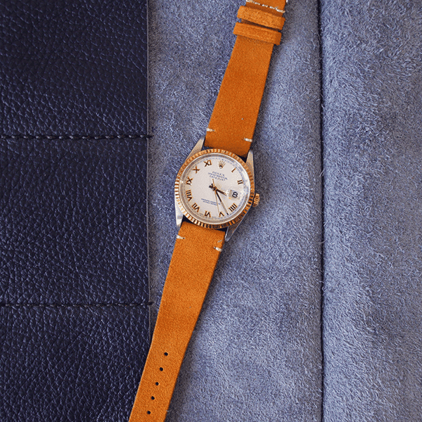 Orange Suede Watch Strap