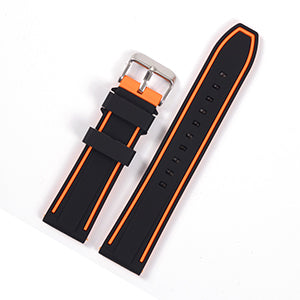 Orange Silicone Waterproof Watch Band