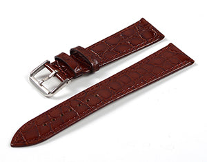 Brown Stone Tapered Dress Watch Strap