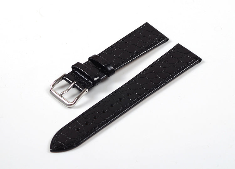 Black Stone Tapered Dress Watch Strap