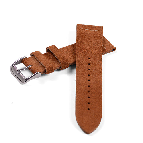 Tan Cross Stitch Suede Watch Band