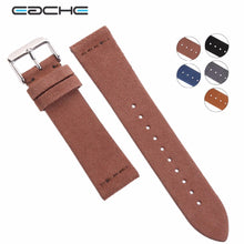 Black Cross Stitch Suede Watch Band