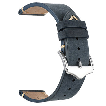 Blue Vintage Distressed Leather Watch Band