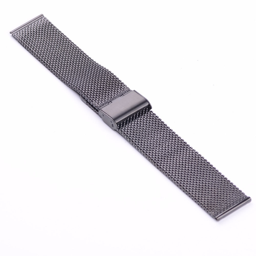 Black Chainmail Mesh Metal Watch Band