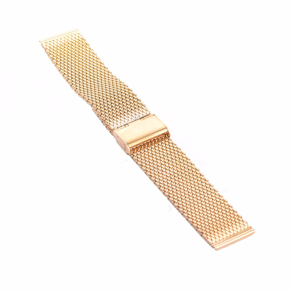 Gold Chainmail Mesh Metal Watch Band
