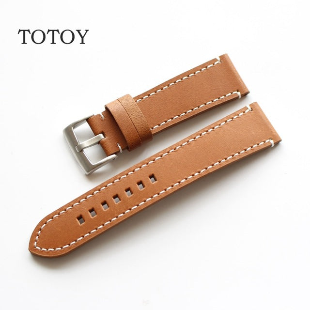 Tan Thick Leather Watch Strap