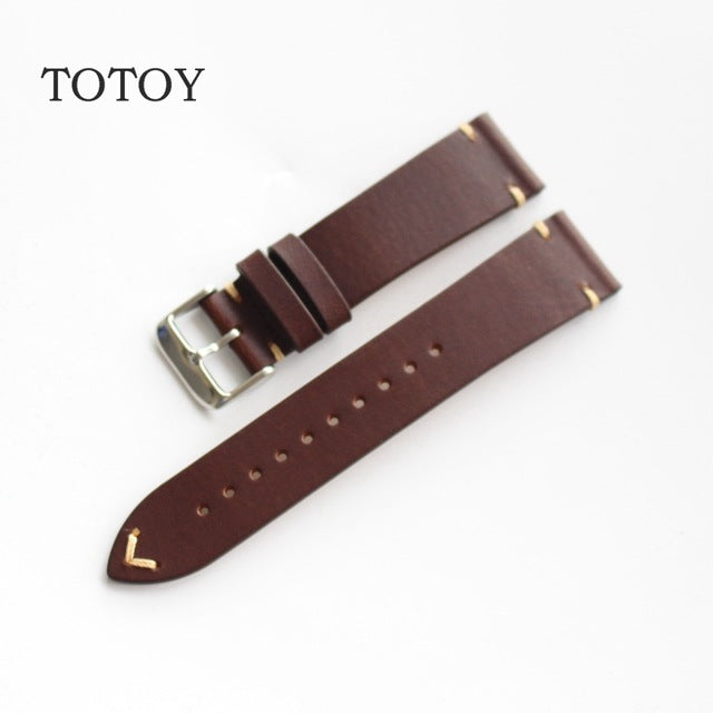 Brown Cordovan Leather Watch Band