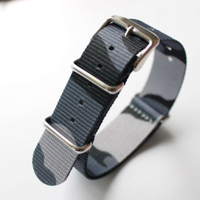 Grey Camo Heavy Duty NATO Strap
