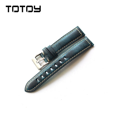 Cobalt Blue Oxford Padded Watch Strap