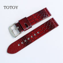 Red Snake Rubber Skin Diver Watch Strap