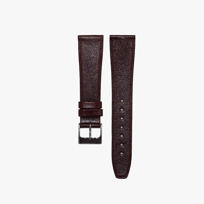 Stitched Burgundy Calf Leather Strap