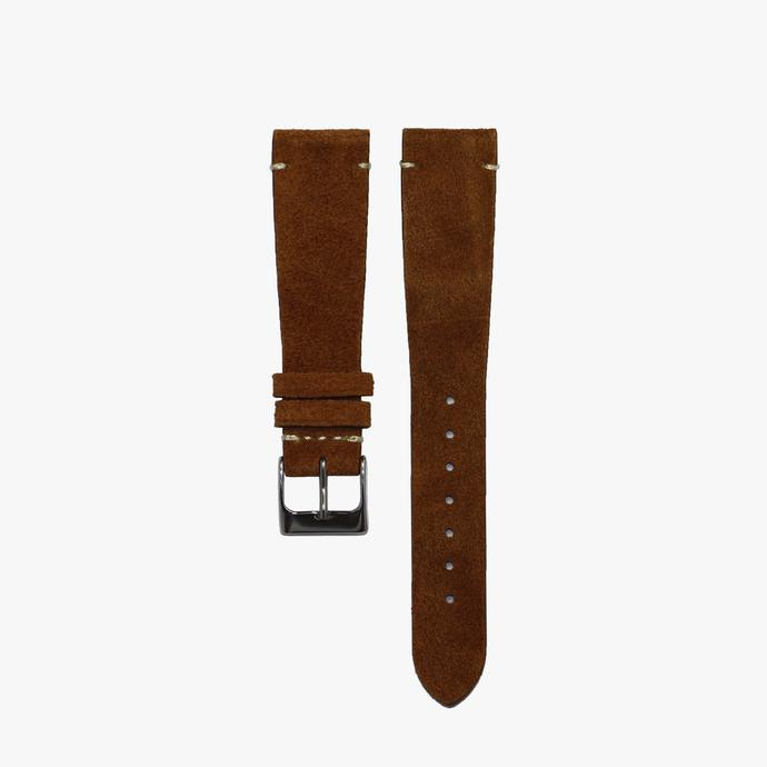 Tobacco Brown Suede Watch Strap