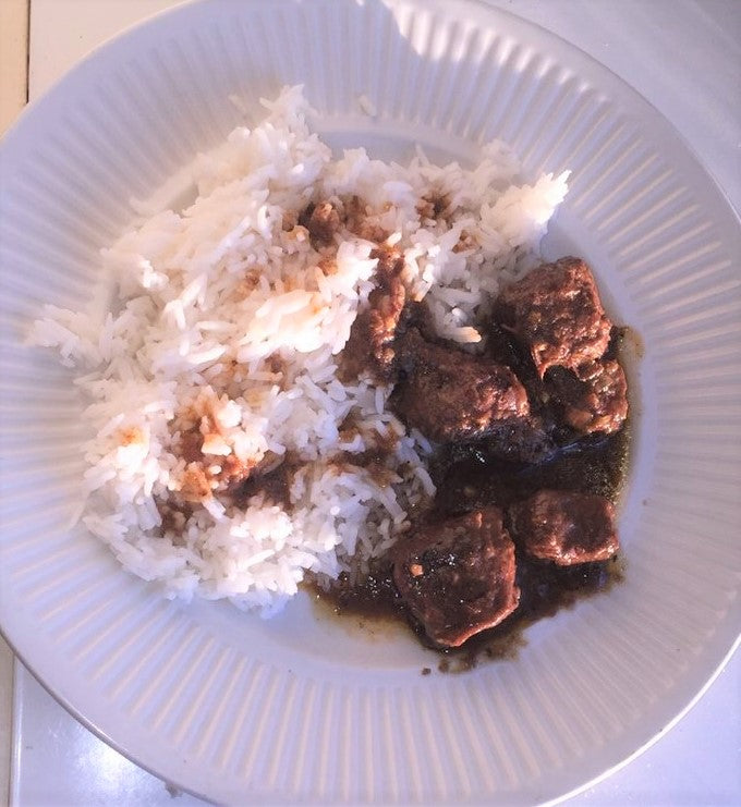 Spicy beef and rice - Pili Pili