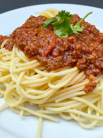 Spaghetti noodles with Berbere Pasta Sauce