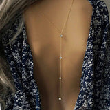 Ladies Back Chain Necklace