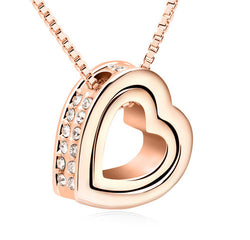 Swarovski Crystal & Gold Plated Heart Pendant Necklace