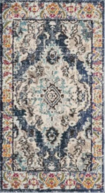 2-foot 2-inch x 8-foot Bungalow Rose Annabel Power Loom- Navy Blue