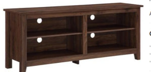 "58"" Wood TV Console-Dark Walnut"
