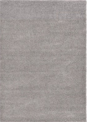 5-foot x 8-foot Light Gray Shag Area Rug
