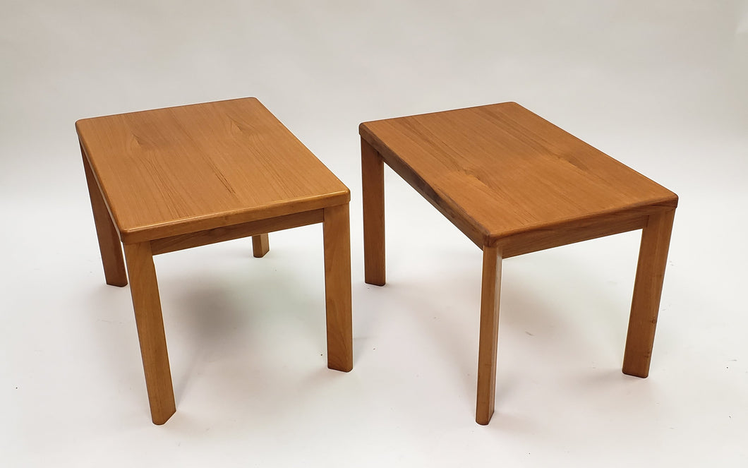 Mid-Century Modern Danish Pair of Side Tables