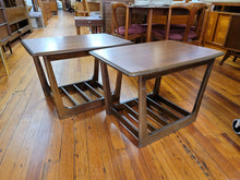 Pair of walnut Bassett side tables