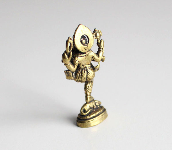 Dancing Ganesha Brass Mini Statue 10 Sets