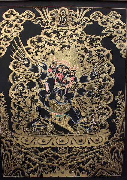 Black Heruka Thangka Painting